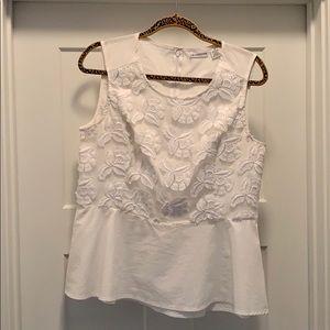 Liz Claiborne sleeveless peplum style blouse